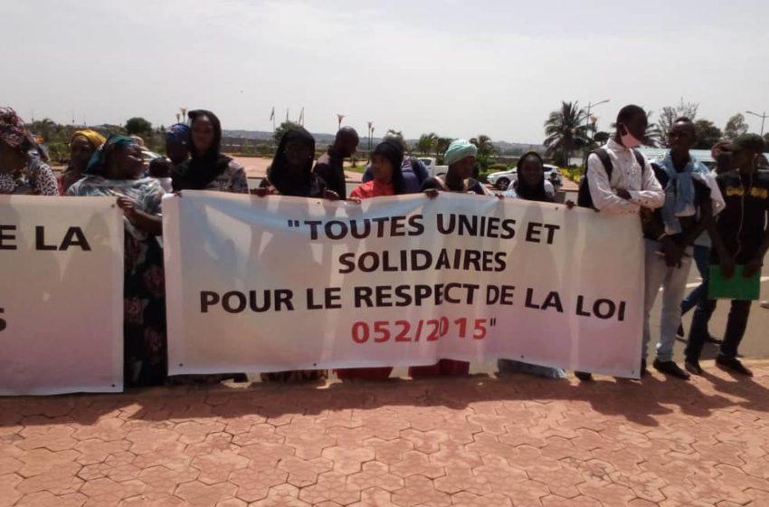 Loi 052: les femmes du Mali ont marché contre le non-respect du quota